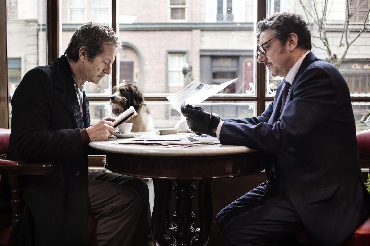 """Sergio Castellitto e Rocco Papaleo durante una scena del film """"La Buca"""", regia di Daniele CiprìRoma-Svizzera 2013-2014"""
