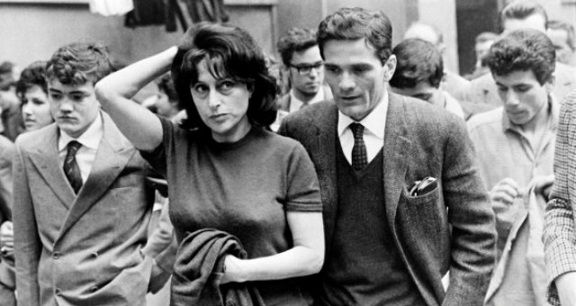 "A photo taken on 1962 in Roma shows Italian writer and films' director Pier Paolo Pasolini (C)and the main characters of his film ""Mamma Roma"", Italian actress Anna Magnani (on his R) and actor Ettore Garofolo (L).  AFP PHOTO        (Photo credit should read STRINGER/AFP/Getty Images)"