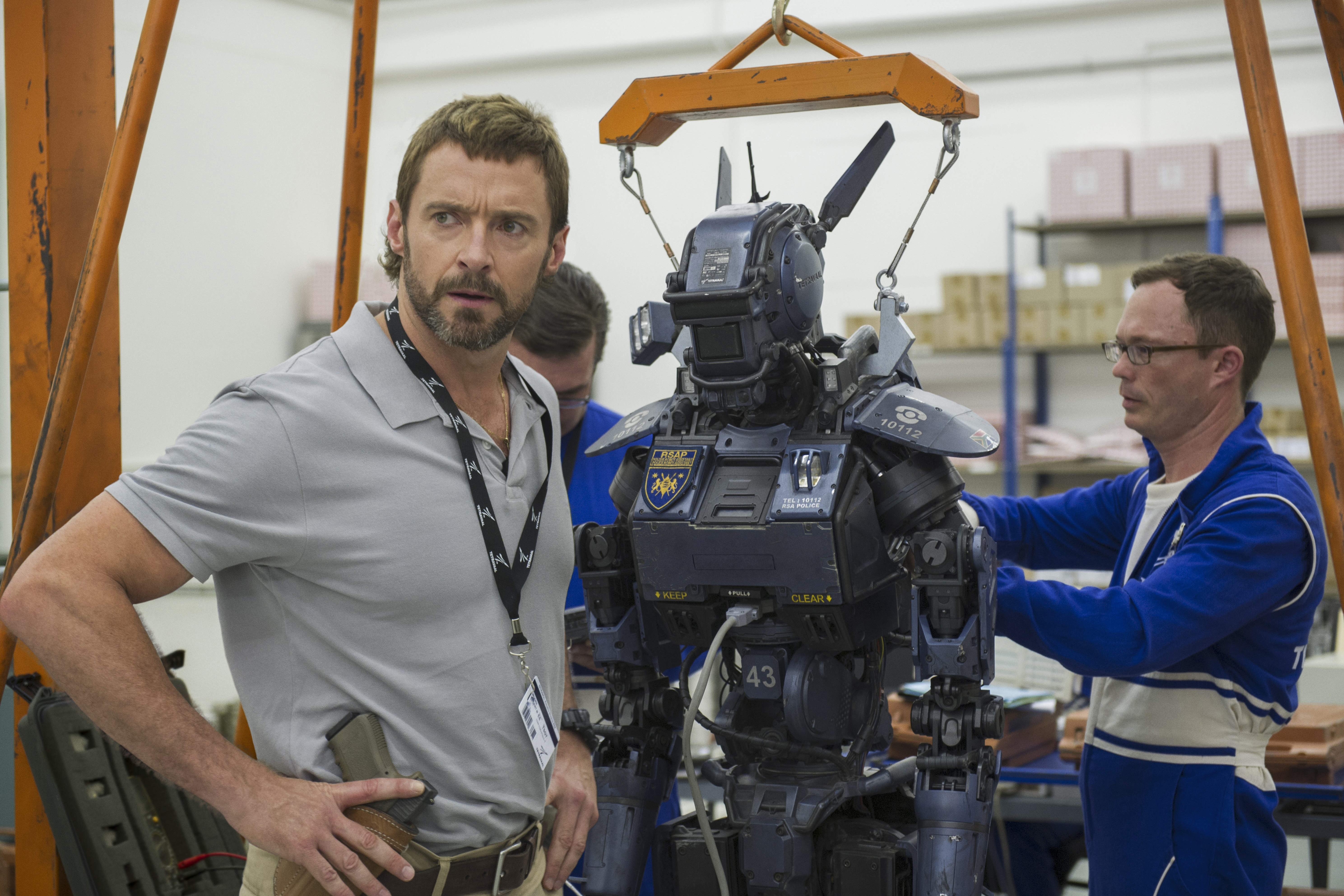 CHAPPIE - 2015 FILM STILL - Hugh Jackman stars as Vincent - Photo Credit: Stephanie Blomkamp  © 2014 CTMG, Inc.  All rights reserved.
