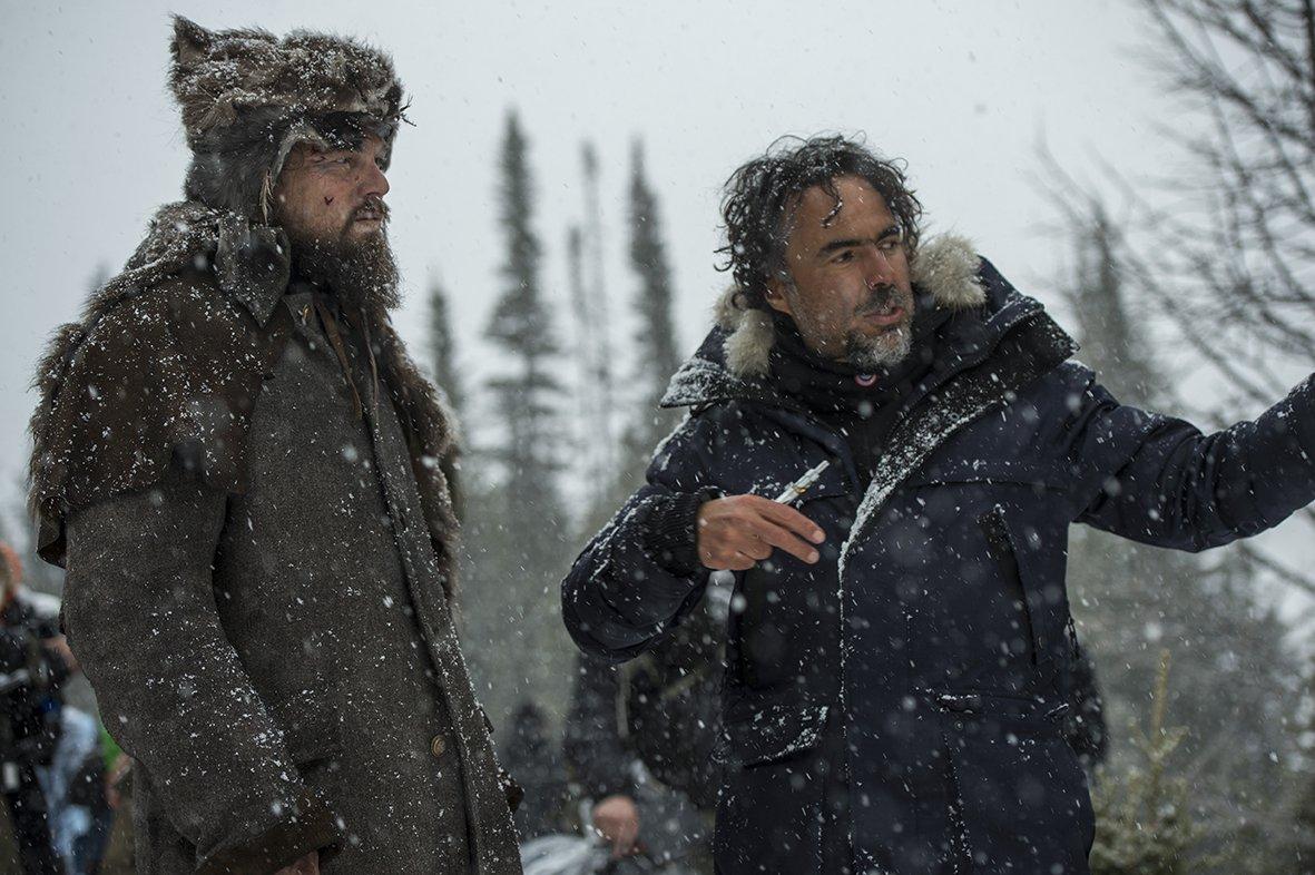 Iñárritu sul set di Revenant