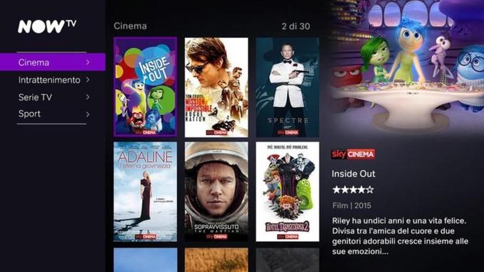 NOW TV di Sky: offerta e prezzi