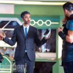 Thor: Ragnarok (2017)L to R: On set with Tessa Thompson (Valkyrie), Director Taika Waititi and Chris Hemsworth (Thor).
