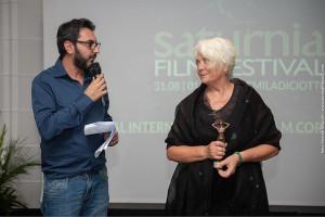 Alessandro grande (direttore artistico) e Enrica Fico Antonioni