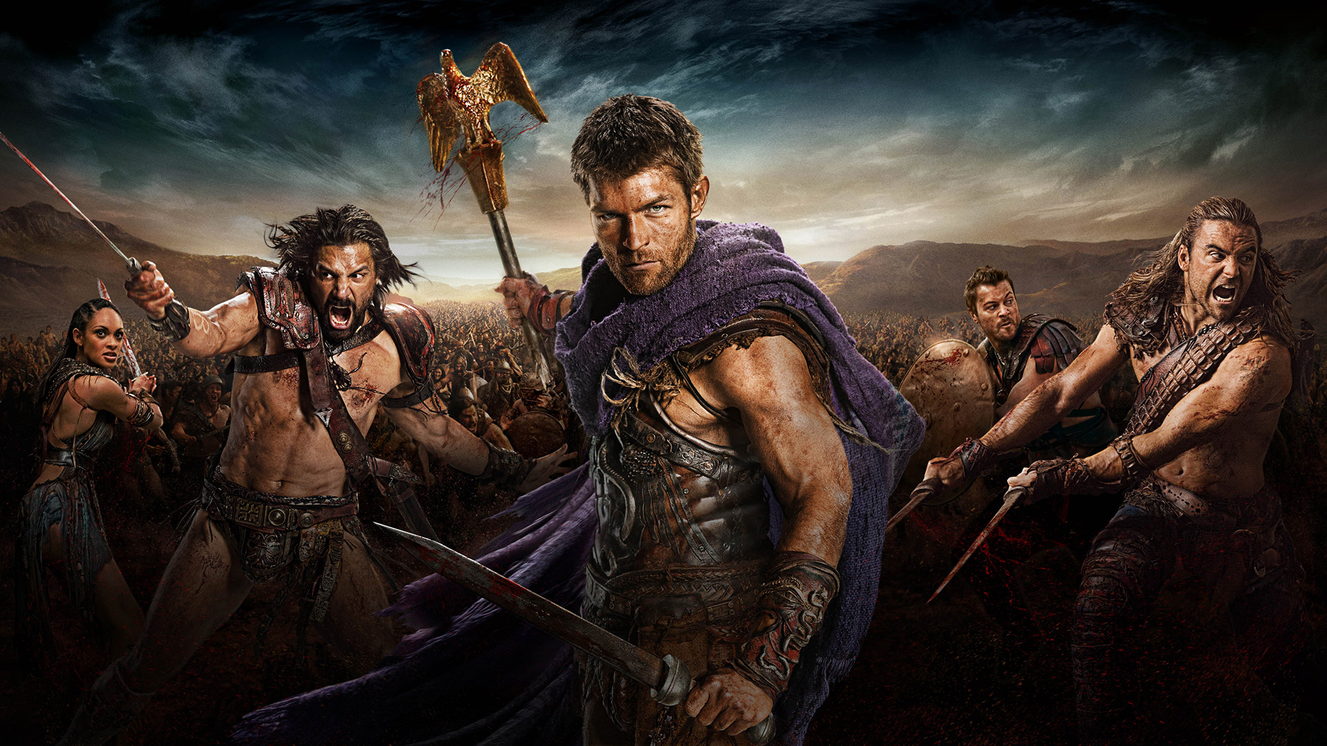 Spartacus War of the Damned; KEYART