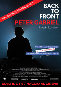 back to front peter gabriel locandina