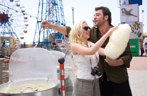 Scarlett Johansson and Javier Bardem Vicky Christina Barcelona movie image