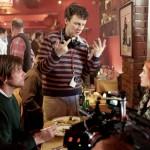 Jim Carrey, Michel Gondry e Kate Winslet sul set