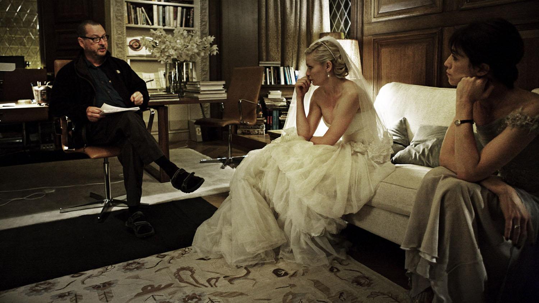 Lars Von Trier, Kirsten Dust e Charlotte Gainsbourg sul set