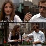 I pensieri dei protagonisti come sottotitoli, una delle tante innovazioni del film.