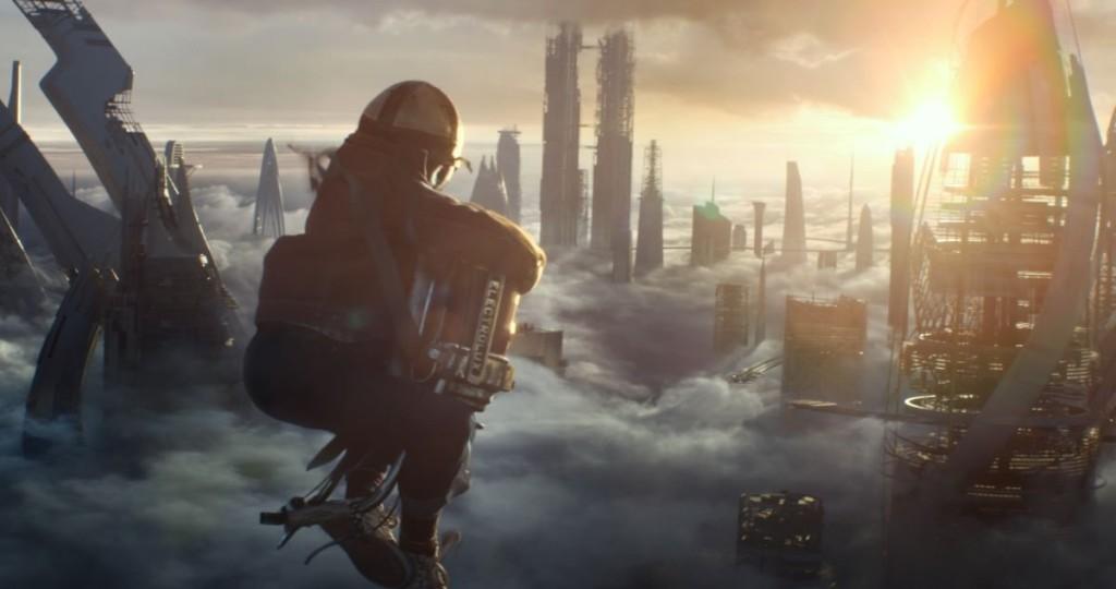 Una delle scene iniziale di Tomorrowland - Il mondo di domani.