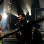 Darren Aronofsky e Mickey Rourke sul set del film