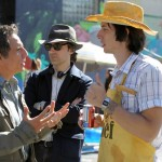 Noah Baumbach sul set del film