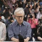 Parker Posey, Woody Allen e Emma Stone alla presentazione del film al Festival di Cannes