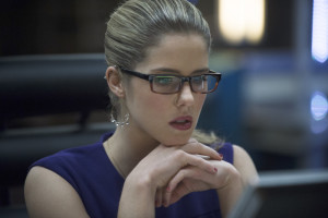 "Arrow -- ""Seeing Red"" -- Image AR220b _0059b -- Pictured: Emily Bett Rickards as Felicity Smoak -- Photo: Cate Cameron/The CW -- © 2014 The CW Network, LLC. All Rights Reserved."