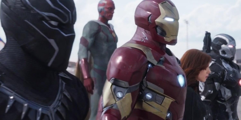 Captain America Team Iron Man