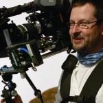 Il regista Lars Von Trier sul set