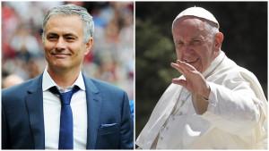 Mourinho voce di Papa Francesco