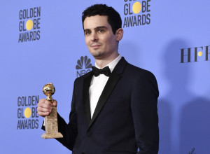 Mandatory Credit: Photo by Rob Latour/REX/Shutterstock (7734778bg) Damien Chazelle - Best Screenplay - La La Land 74th Annual Golden Globe Awards, Press Room, Los Angeles, USA - 08 Jan 2017