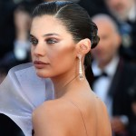 La modella portoghese Sara Sampaio sul red carpet del film in concorso 120 Beats Per Minute - 20 maggio (ALBERTO PIZZOLI/AFP/Getty Images)