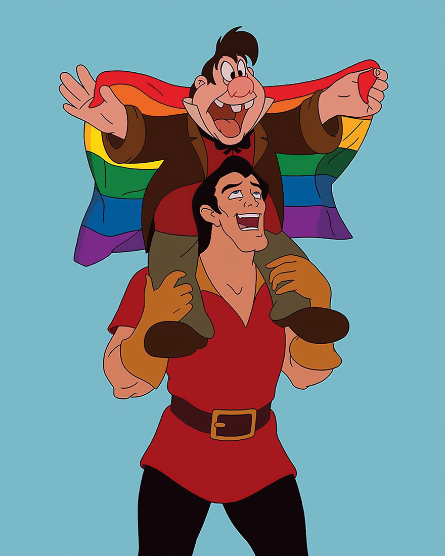 DISNEY LE TONT E GASTON LGBT