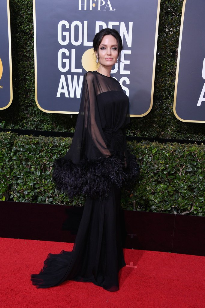 Angelina-Jolie-Wearing-Black-Dress-2018-Golden-Globes