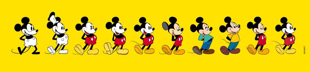 L'Evoluzione grafica di Topolino 1928-2018