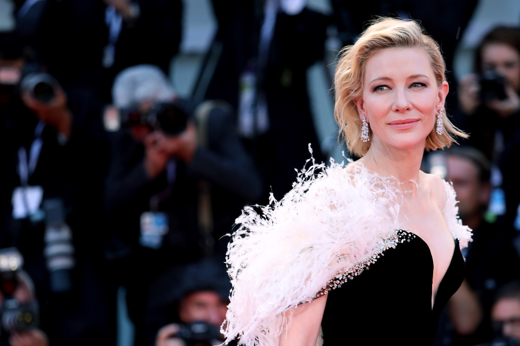 "Cate Blanchett sul red carpet di ""A Star is Born"", a Venezia 75. (Foto di Maria Moratti/Contigo/Getty Images)"