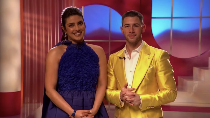 Priyanka Chopra Jonas and Nick Jonas announce the nominees for the 93rd Annual Academy Awards, on Monday, March 15, 2021.
