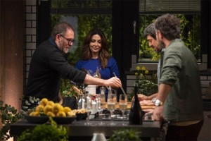 Valerio-Mastandrea-Sabrina-Ferilli-Pierfrancesco-Favino-e-Carlo-Cracco in dinner club